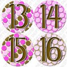 PINK BUBBLES ONESIE STICKERS 13 to 24 months by Onesie Stickers, Free Milestone Stickers