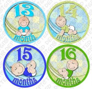 LITTLE BOY BABIES ONESIE STICKERS 13 to 24 months by Onesie Stickers baby shower gifts