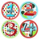 LOLLI DOTS ONESIE STICKERS 1-12 months by Onesie Stickers Baby and infant onesie bodysuit