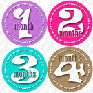 GIRLS DANCING DOTS ONESIE STICKERS 1 to 12 months by Onesie Stickers baby shower gifts