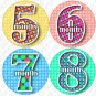 Monthly Onesie stickers DANCING DOTS 1 to 12 months baby shower gifts