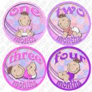 LITTLE GIRL BABIES ONESIE STICKERS 1 to 12 months by Onesie Stickers baby shower gifts