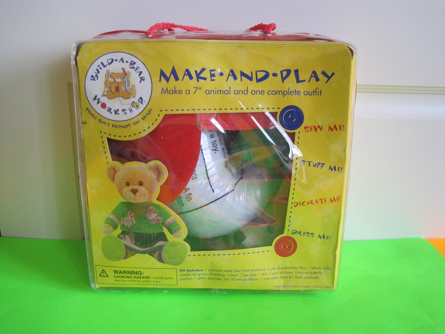 """Build-A-Bear ~ Make a 7"""" Animal and 1 Complete Outfit - Model 42273"""