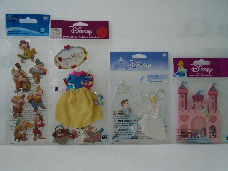 Disney Dimensional Stickerss- Snow white, 7 Dwarves, Cinderella, Princess Castle