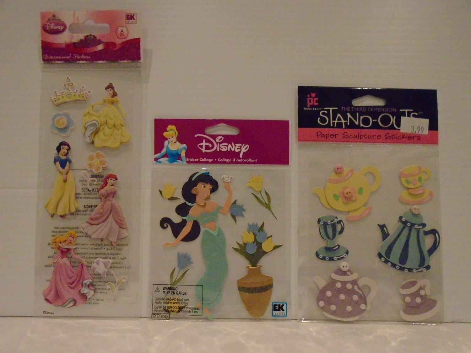 A Touch Of Jolee's Disney(R) Dimensional Stickers - Disney Princess & Tea Party