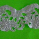 36 inches white beaded embroidery sequined lace for wedding dress Decor