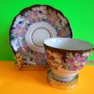 VINTAGE China TEA CUP AND SAUCER Pink Floral Motif Excellent Cond Ship Fast
