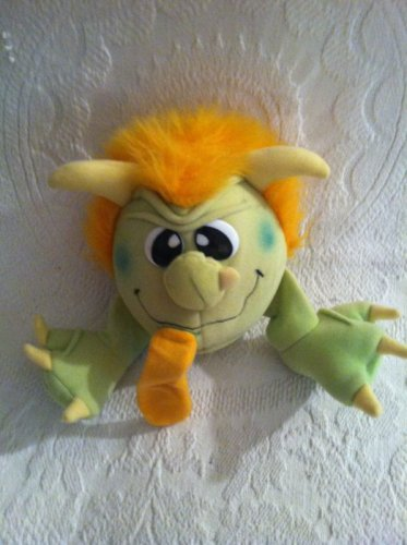 """HTF 7"""" Vintage 1986 Matchbox Rascals Noisy Spitter Tongue Green Plush Monster"""