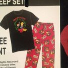 NWT XL Beavis & Butthead 2pcs Sleep Set Sleep Tee & Fleece Lounge Pants Xmas