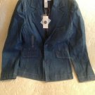 NWT Old Navy Size Juniors Small Denim Sparkly Blue Jacket