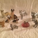 Large Lot VTG Dog German Shepherd Figurines Pewter Ceramic Metal Porcelain Japan