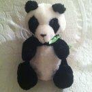 "Vintage 1980 Dakin Plush Stuffed Penelope Panda Bear 11"" VGUC"