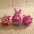 Fur Real Dizzy Dancers Lot Bunny Rabbit Raccoon Pink Purple