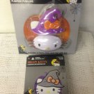 NEW Lot Hello Kitty Witch Pumpkin Decorating Kit Push-Ins