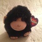 "4"" Swibco Puffkins Plush Stuffed Milo Black Monkey W/ Tag"