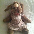 "Vintage 1981 18"" Ganzbros. Wrinkles Plush Dog Hand Puppet VGUC Dress 1390003"