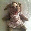 """Vintage 1981 18"""" Ganzbros. Wrinkles Plush Dog Hand Puppet VGUC Dress 1390003"""