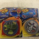NEW Aero Flixx Flying Disc Game Target Launcher 6 3D Discs Lot Series A Dino