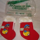 Lot 2 1986 An American Tail Mouse Movie Ornaments McDonalds Sears