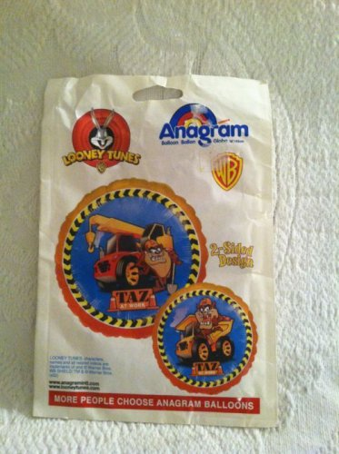 Anagram Looney Tunes WB 2 Sided Taz At Work Balloon Collectible