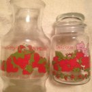 VTG 1980 Lot Strawberry Shortcake Delicious Canister & Sweet Juice Pitcher