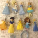 Lot Disney Princess Dolls Toys Belle Cinderella Sleeping Beauty Snow White Ring