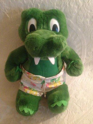 Rare VTG 1987 Burdines FL Department Store Plush Alligator Francesca Hoerlein