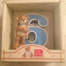 "3"" NEW Gund Thinking Of You Number 6 Teddy Bear & Mice Figurine"