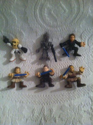 Hasbro Galactic Heroes Star Wars Lot Storm Trooper Droid Anakin Skywalker Obi