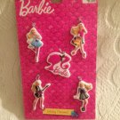 New Lot 5 Barbie Christmas Ornaments Dance Guitar Dog Shop