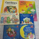 VTG Lot Care Bears Coloring Sticker Christmas Santa Witch Down Street Poems