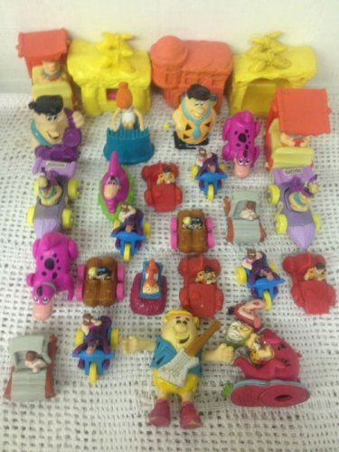 Lot 28 Flinstones Toys Movie Wind Up Stamper Fred Wilma Barney Betty Bam Dino