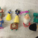 Lot Snow White Doll Toys 7 Dwarfs Happy Doc Witch Queen Keychain Clip