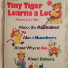 Tiny Tiger Learns A Lot By Kathleen Daly 1976 Golden Book Alphabet Number Colors