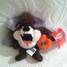 "5"" 1999 Looney Tunes Trick Or Treat Taz Mini Bean Bag Beanie Halloween Plush Tag"