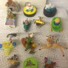 Lot VTG Toys Black Cauldron Mighty Ducks Tales Robin Hood Dodger Bambi Rescuers