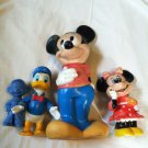 Lot Disney Figures Banks Minnie Mickey Mouse Donald Duck Marx Dopey