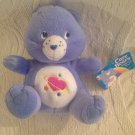 "7"" Nanco Daydream Care Bear Plush Stuffed Blue Purple Heart Stars W/ Tag"
