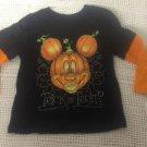 NEW Boys 4T Mickey Mouse Pumpkin Head Halloween Black Trick Treat T-Shirt