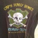 NWT Halloween T-Shirt Dark Gray Cap'N Funny Bones Comedy Club XS