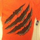 NWT Circo Boys Halloween Tshirt Monster Claw Mark Extra Small 4/5 Orange