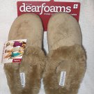 Pair of Women's Small Tan Dearfoams NEW