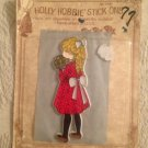 Vintage Holly Hobbie Stick Ons Blonde Hair Red Dress Unused American Greetings