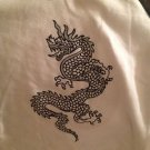NWT Soft Wear Sleep Shirt White Black Gray Dragon Longsleeve