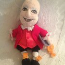 """10"""" Benjamin Franklin Famous Bean Collectible Plush Stuffed Inventor Toy"""