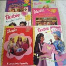 Lot Barbie Activity Books Love Family Fashion Fantasy Awesome Parties Learn Tell