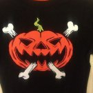NWT Circo Boys Halloween Tshirt Jack O Lantern Bones Small 6/7 Black