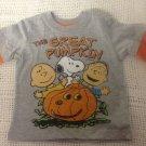 NEW Boys 24M Peanuts Great Pumpkin Halloween T-Shirt Snoopy Charlie Linus