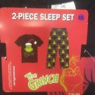 NWT XXL Dr. Seuss The Grinch Christmas Mens Sleep Set Pants T-Shirt