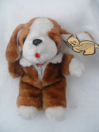8� Original Kuschel Wuschel �Cuddly Fuzzy� plush brown dog with tag stuffed